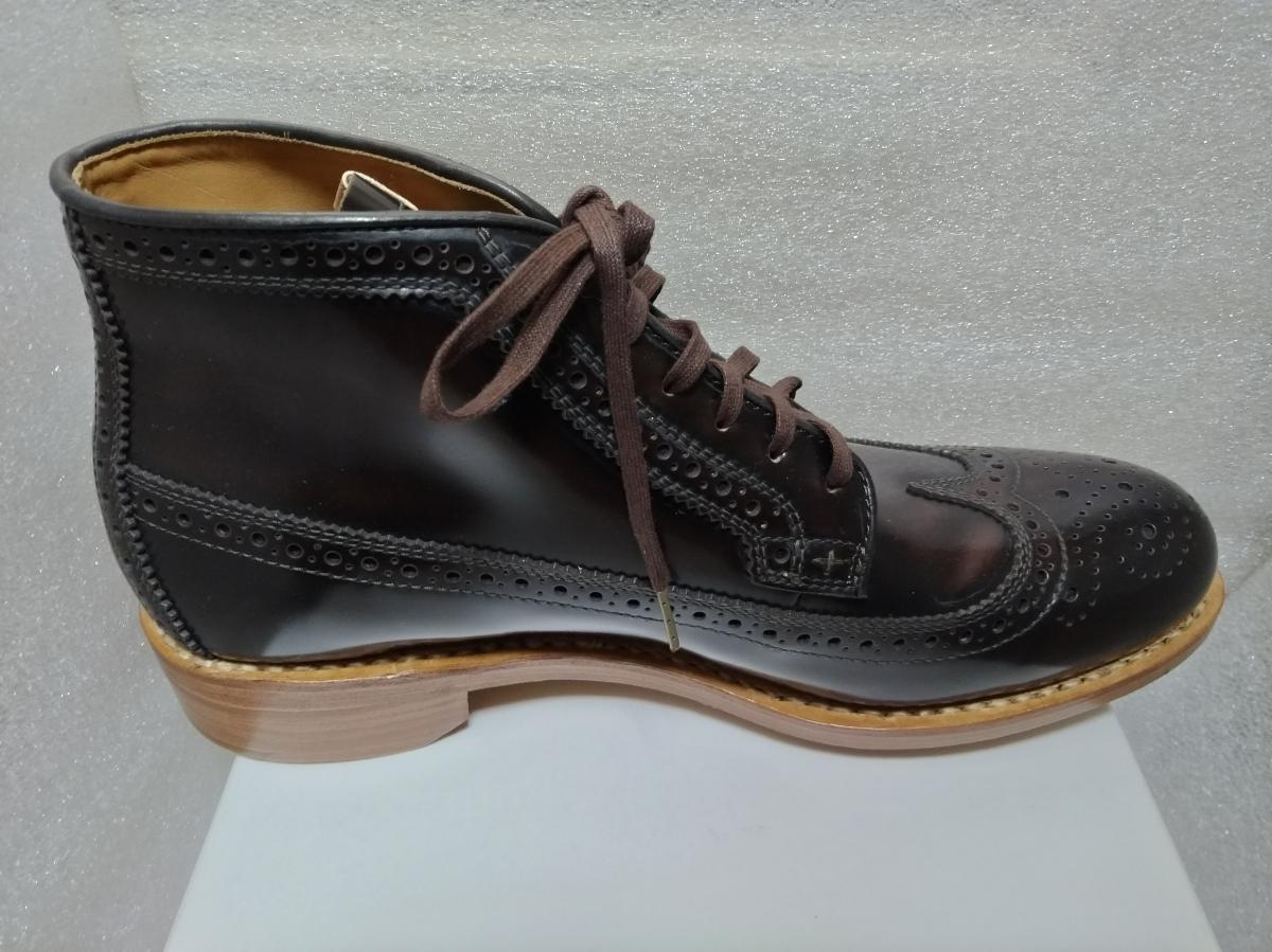 visvim patrician mid wt-folk 靴 ウィングチップ 27.5_画像5