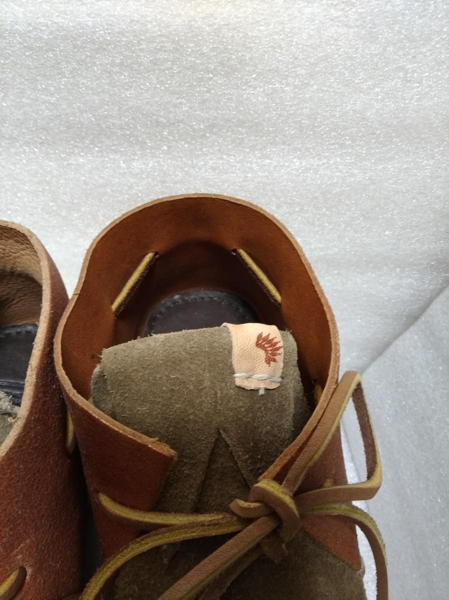 【新品】visvim HURON MOC-FOLK BEIGE M8 0116202002002 シューズ 靴_画像6