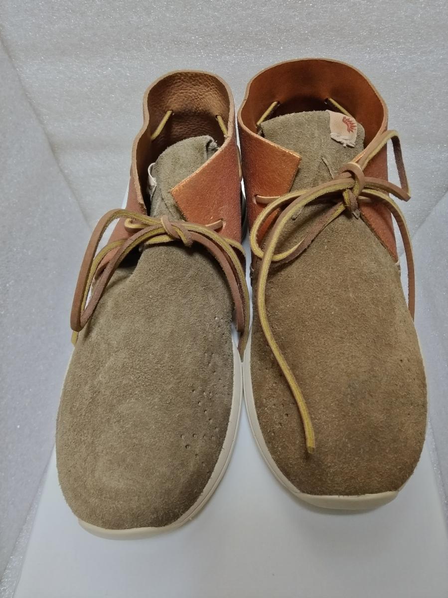 【新品】visvim HURON MOC-FOLK BEIGE M8 0116202002002 シューズ 靴_画像2