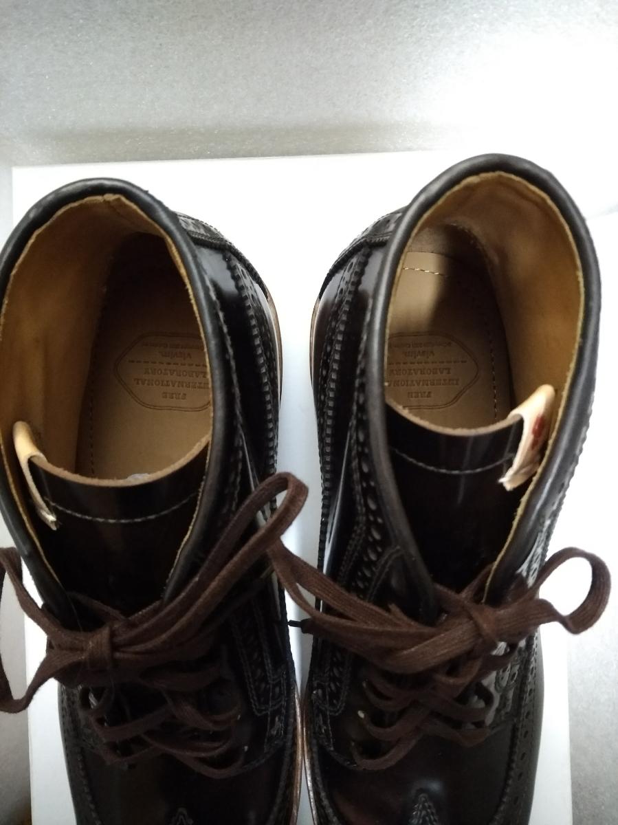 visvim patrician mid wt-folk 靴 ウィングチップ 27.5_画像7