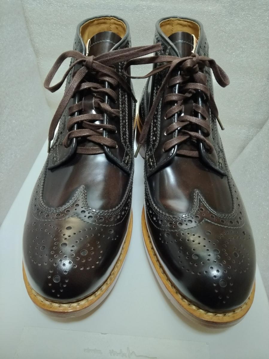 visvim patrician mid wt-folk 靴 ウィングチップ 27.5_画像3