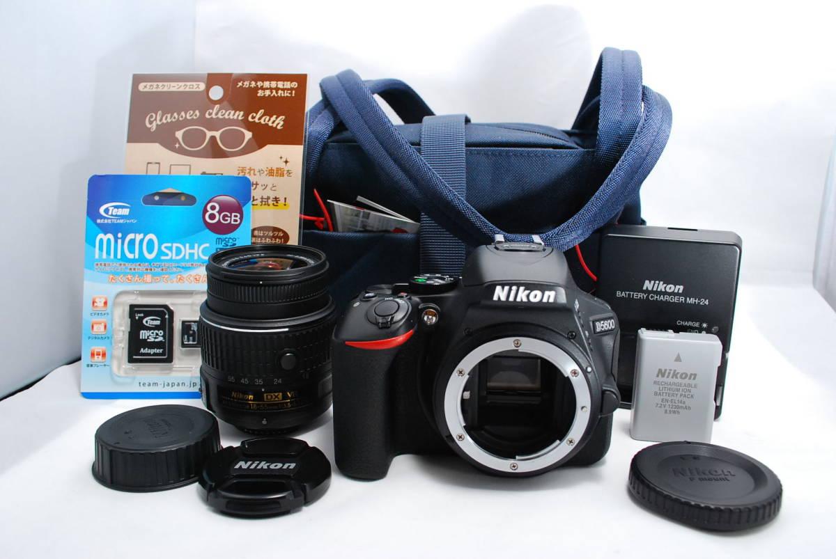 【ほぼ新品】ニコン Nikon D5600 標準ズームレンズセット ◆安心の6か月保証◆ #39C3-4