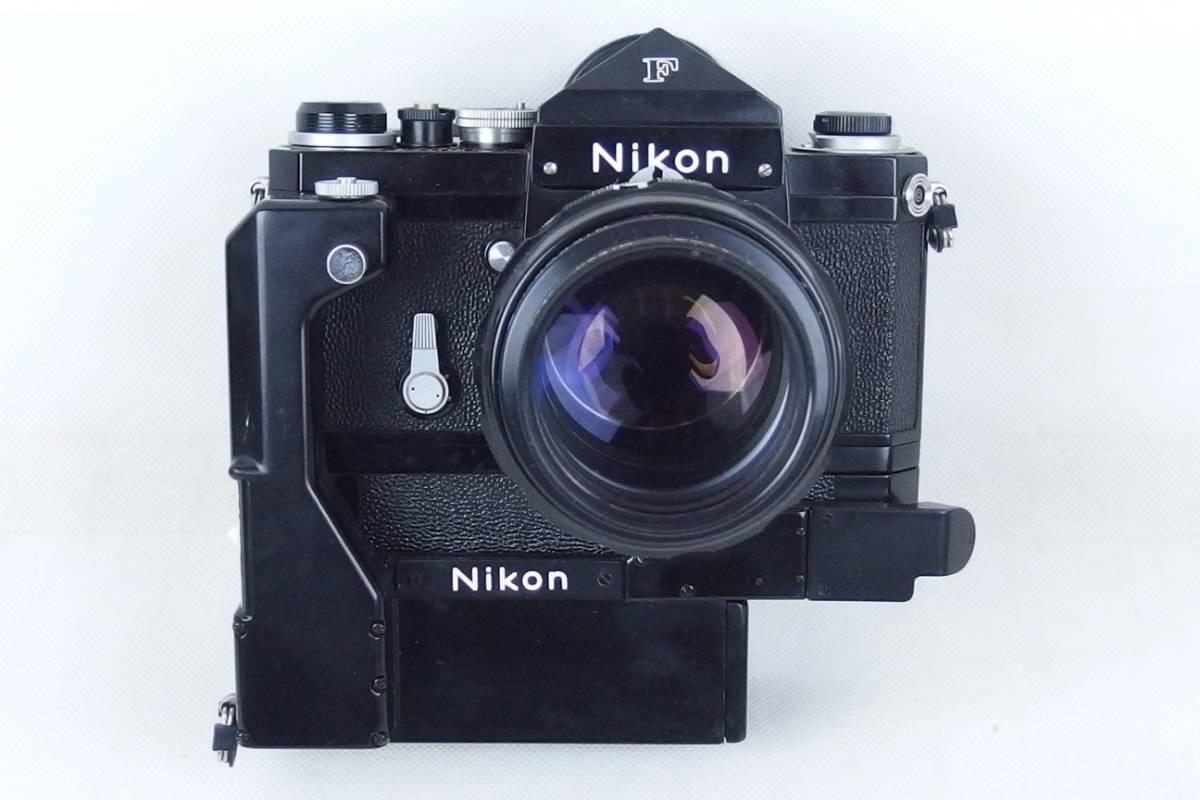 ニコン NIKON F モータードライブ付 NIKOR-H Auto 1:1.8 f=85㎜/NIKOR-N Auto 1:2.8 f=24㎜_画像2
