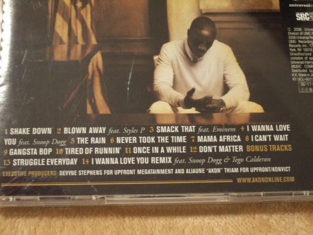 CD アルバム AKON エイコン Konvictedコンヴィクテッド Smack That feat.EMINEMエミネム I Wanna Love You feat. SNOOP DOGGスヌープドッグ