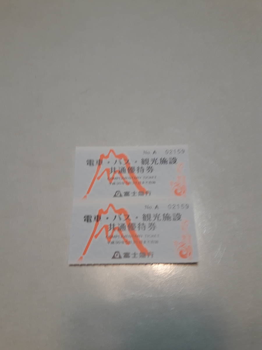 富士急ハイランド入園券二枚です。