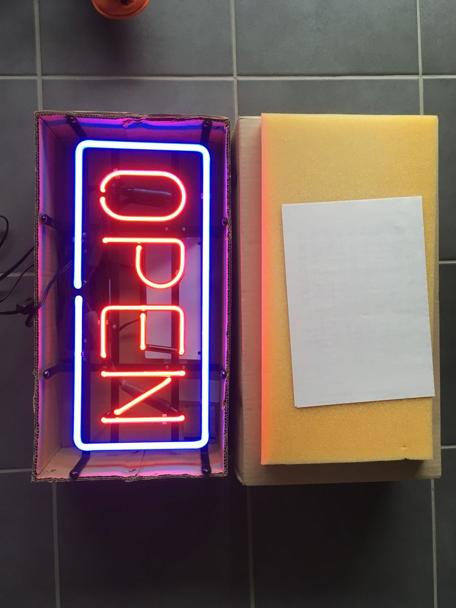 ネオン管 OPEN 店舗 什器 未使用 長期保管品 80年代