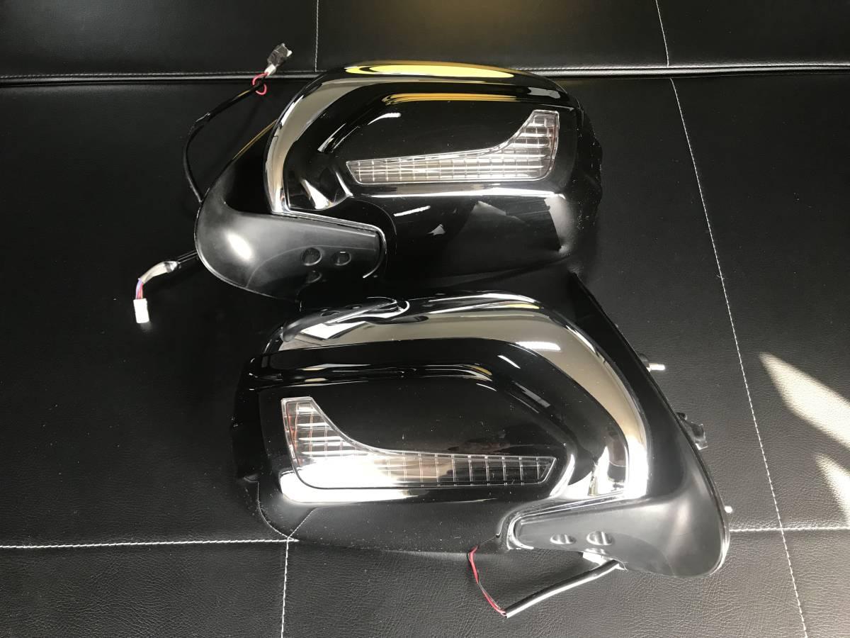 ハイエース レジアスエース 4型 エアロライジングフィン付き スーパーGL 純正ミラー 左右セット モデリスタミラーウインカー付き 美品
