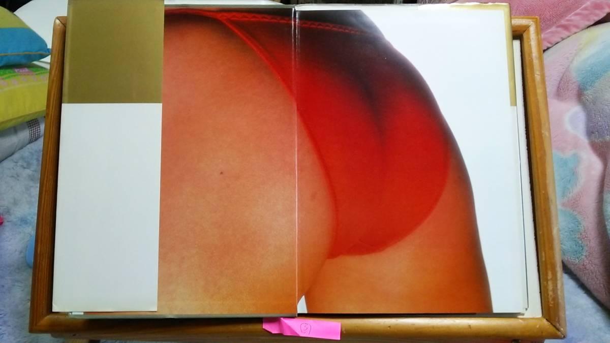 ③ 早乙女 愛 写真集 北の蛍/スプレイ 帯付き 綺麗ですが帯破れ、天地小口に打痕凹み有ります、画像にてご確認下さい。_画像9