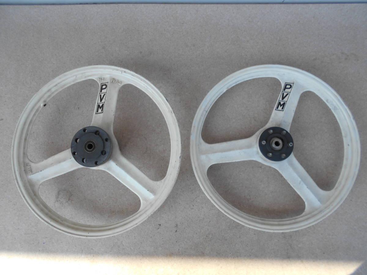 18インチ PVM ホイール 前後セット 中古品 当時物 絶版品 18×1.60 MBX50F NS50F RS125 NS-1 TZ125 TZR50 AR50 AR80_画像1