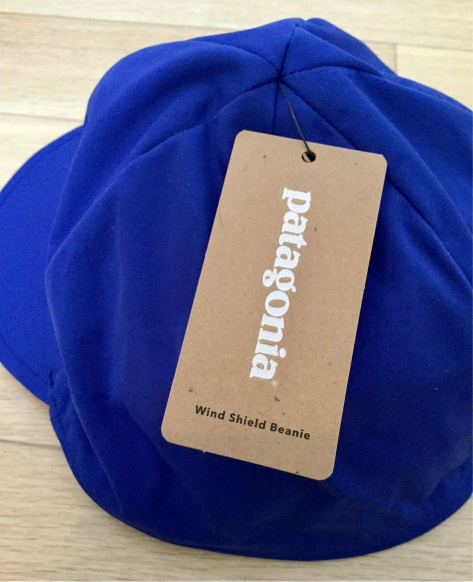 new goods!! patagonia ~Wind Shield Beanie~ Harvest-Moon-Blue SIZE L ... 9eff8ca94b39