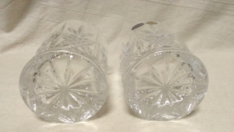 【ロックグラス】『良品』 ロックグラス 4点 切子 クリスタルグラス 24%PbO / ボヘミアクリスタル 180227c_画像3