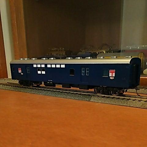 HO フェニックス メーカー完成品 郵便客車 オユ10(非冷房・青色)尾灯は両サイド点灯し