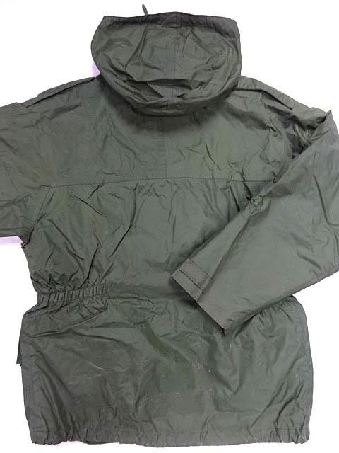 ビンテージ イギリス軍 英国 UK ミリタリー レア カラー グリーン RAF 悪天候 ナイロン ジャケット コート スモック FOUL WEATHER 希少 緑_画像2