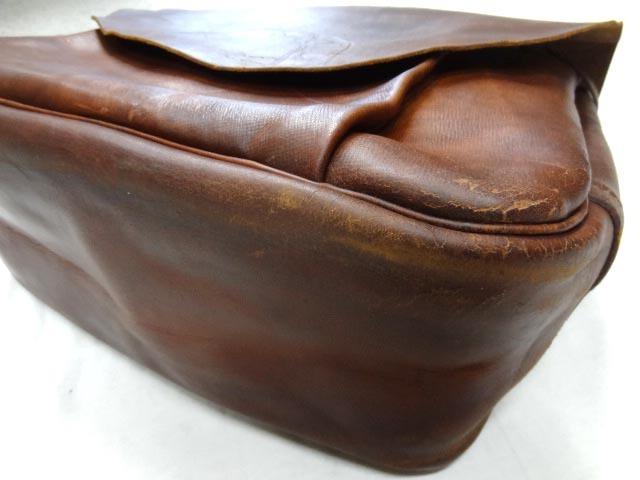 ビンテージ 希少 US レザー メール バッグ 70S グッド コンディション オリジナル ストラップ ポストオフィス 革 鞄 レア 茶 USPS 雰囲気_画像3
