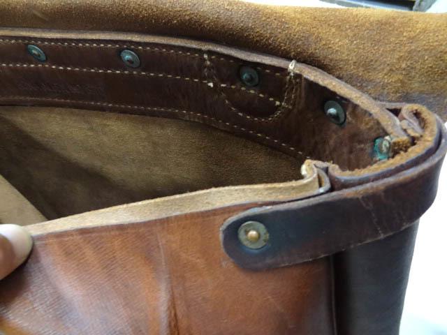 ビンテージ 希少 US レザー メール バッグ 70S グッド コンディション オリジナル ストラップ ポストオフィス 革 鞄 レア 茶 USPS 雰囲気_画像8