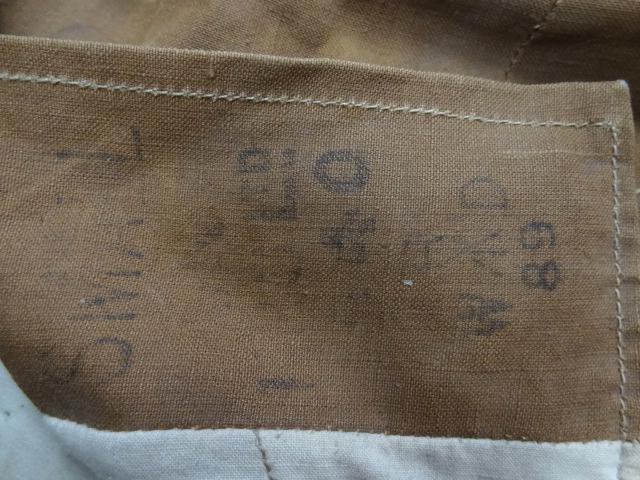 ビンテージ イギリス軍 英国 珍品 希少 プロテクティブ キャンバス ジャケット 茶 ブラウン UK ミリタリー レア 藁 ステンシル ベルト UK_画像2
