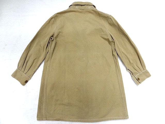 ビンテージ 希少 イギリス軍 英国 UK 40S ミリタリー ドリル コート カバーオール チェンジボタン レディース サイズ S 小柄な男性も可 珍_画像4
