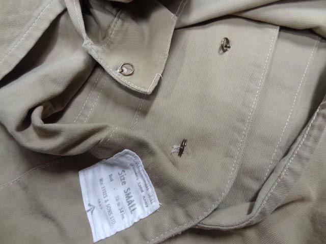 ビンテージ 希少 イギリス軍 英国 UK 40S ミリタリー ドリル コート カバーオール チェンジボタン レディース サイズ S 小柄な男性も可 珍_画像6