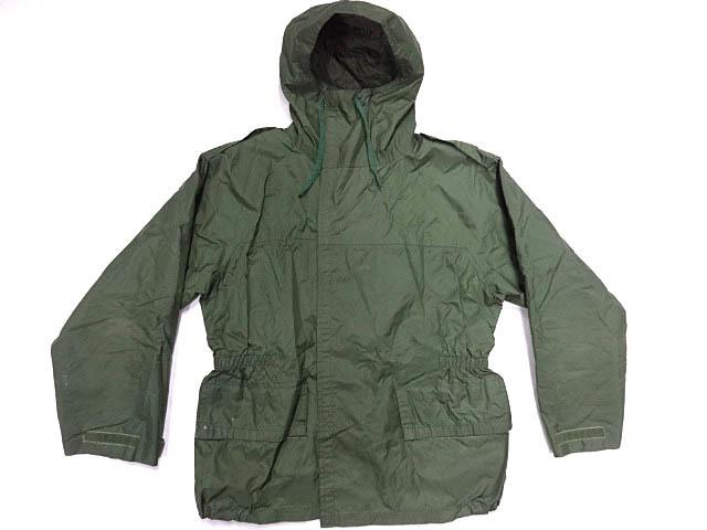 ビンテージ イギリス軍 英国 UK ミリタリー レア カラー グリーン RAF 悪天候 ナイロン ジャケット コート スモック FOUL WEATHER 希少 緑_画像1