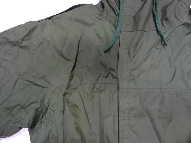 ビンテージ イギリス軍 英国 UK ミリタリー レア カラー グリーン RAF 悪天候 ナイロン ジャケット コート スモック FOUL WEATHER 希少 緑_画像3