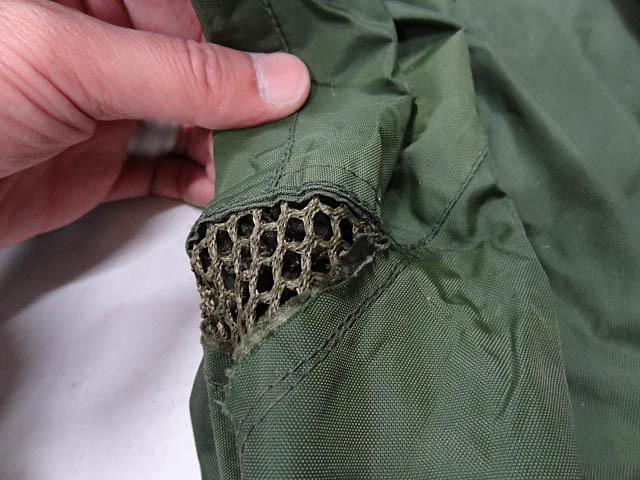 ビンテージ イギリス軍 英国 UK ミリタリー レア カラー グリーン RAF 悪天候 ナイロン ジャケット コート スモック FOUL WEATHER 希少 緑_画像4
