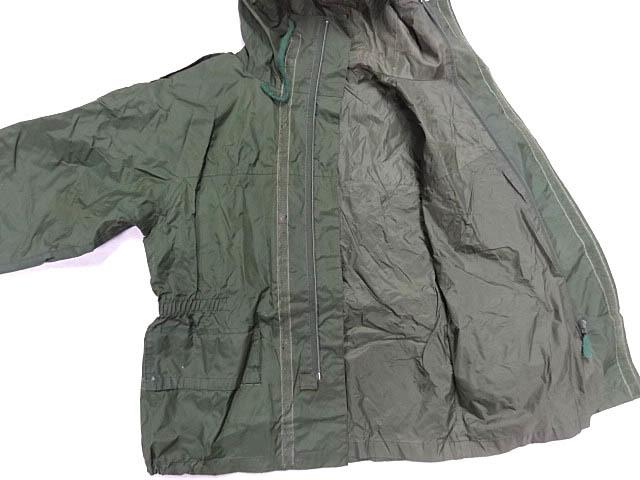ビンテージ イギリス軍 英国 UK ミリタリー レア カラー グリーン RAF 悪天候 ナイロン ジャケット コート スモック FOUL WEATHER 希少 緑_画像5