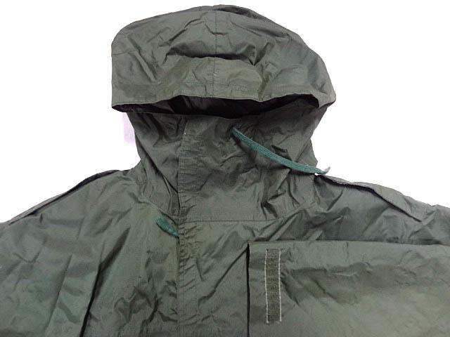 ビンテージ イギリス軍 英国 UK ミリタリー レア カラー グリーン RAF 悪天候 ナイロン ジャケット コート スモック FOUL WEATHER 希少 緑_画像7