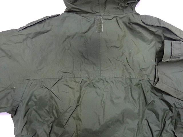 ビンテージ イギリス軍 英国 UK ミリタリー レア カラー グリーン RAF 悪天候 ナイロン ジャケット コート スモック FOUL WEATHER 希少 緑_画像8