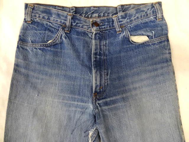ビンテージ LEVIS リーバイス 希少 646E ビッグE インディゴ デニム ベルボトム パンツ フレア タロン ジッパー ヒゲ 色落ち サイズ W34 藍_画像3