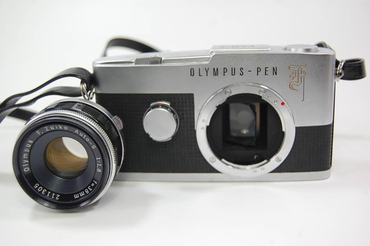 OLYMPUS-PEN F+F.Zuiko Auto-S 1:1.8 f=38mm+Olympus Zuiko Auto-zoom 1:3.5 f=50~90mm+専用メーター 花文字 ペンF ハーフカメラ _画像10