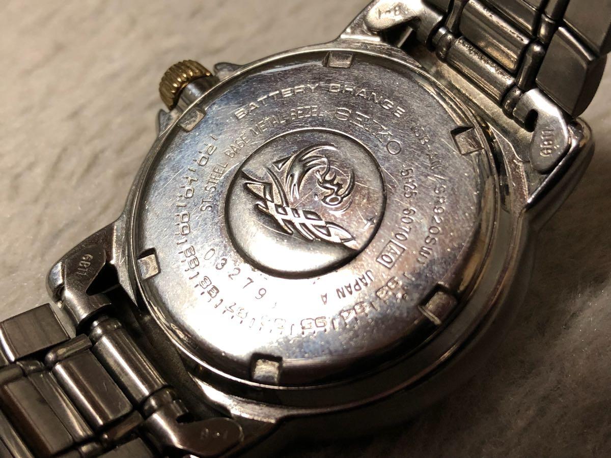 【希少】SEIKO SCUBA 200m セイコー スキューバ ダイバーズ クォーツ 腕時計 5H25-6070【電池交換済み】_画像7