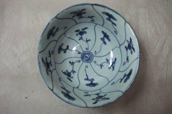 ■中国古玩 唐物 染付 青華紋 鉢 時代物 骨董品 古美術■_画像4