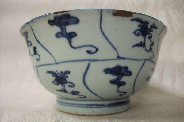 ■中国古玩 唐物 染付 青華紋 鉢 時代物 骨董品 古美術■_画像3