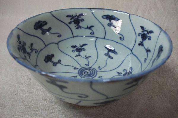 ■中国古玩 唐物 染付 青華紋 鉢 時代物 骨董品 古美術■_画像2