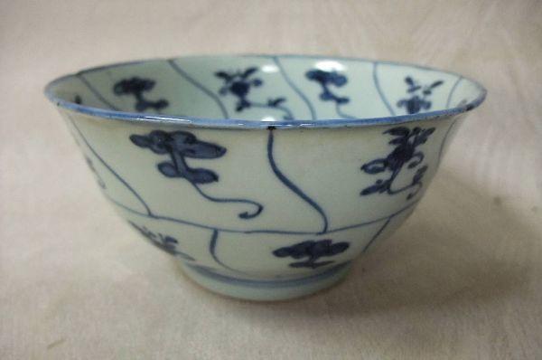 ■中国古玩 唐物 染付 青華紋 鉢 時代物 骨董品 古美術■_画像1