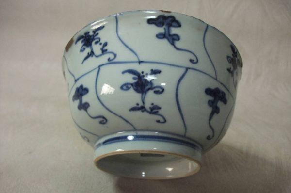 ■中国古玩 唐物 染付 青華紋 鉢 時代物 骨董品 古美術■_画像6