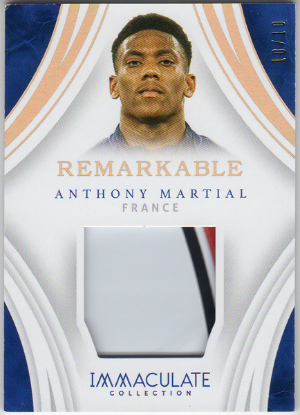 Anthony Martial 2017 Panini Immaculate Remarkable Patch 10枚限定!!(10/10)!!アントニー・マルシャル パッチ!!フランス