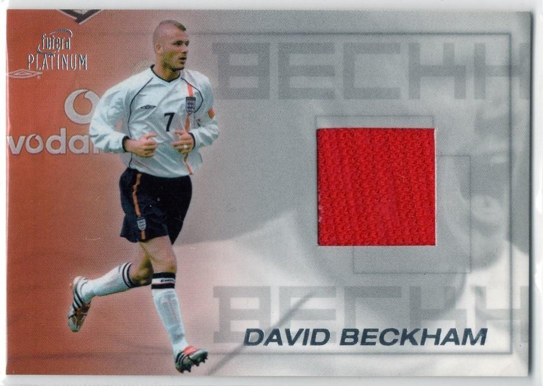 David Beckham <2001 Futera Platinum>PJC7 ジャージカード デビッド・ベッカム_画像1