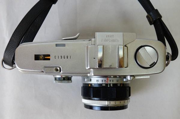 美品☆OLYMPUS PEN-F F.Zuiko Auto-S 1:1.8 f=38mm ハーフサイズ一眼レフカメラ シャッター動作OK オリンパス_画像3