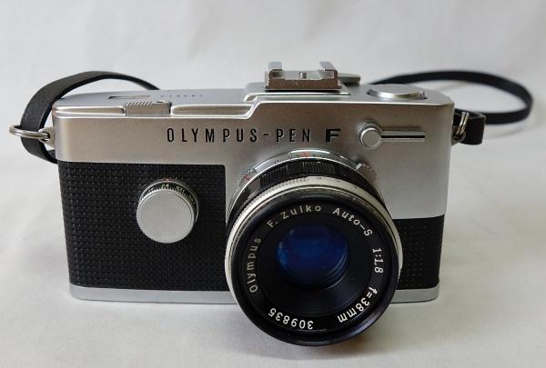 美品☆OLYMPUS PEN-F F.Zuiko Auto-S 1:1.8 f=38mm ハーフサイズ一眼レフカメラ シャッター動作OK オリンパス_画像2