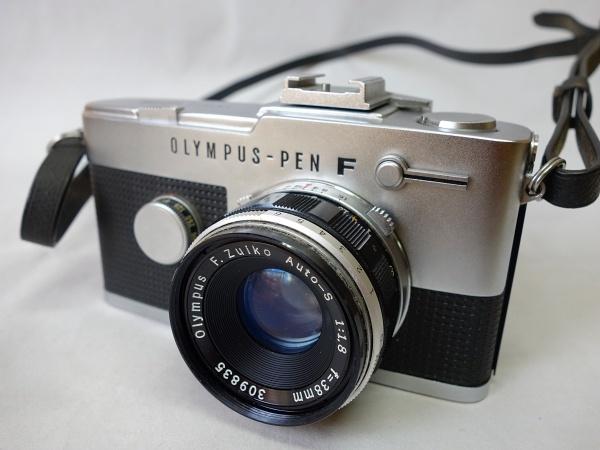 美品☆OLYMPUS PEN-F F.Zuiko Auto-S 1:1.8 f=38mm ハーフサイズ一眼レフカメラ シャッター動作OK オリンパス
