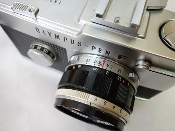 美品☆OLYMPUS PEN-F F.Zuiko Auto-S 1:1.8 f=38mm ハーフサイズ一眼レフカメラ シャッター動作OK オリンパス_画像8