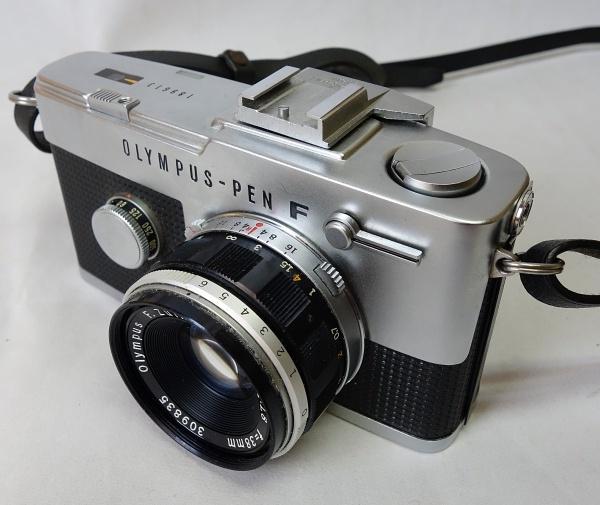 美品☆OLYMPUS PEN-F F.Zuiko Auto-S 1:1.8 f=38mm ハーフサイズ一眼レフカメラ シャッター動作OK オリンパス_画像9