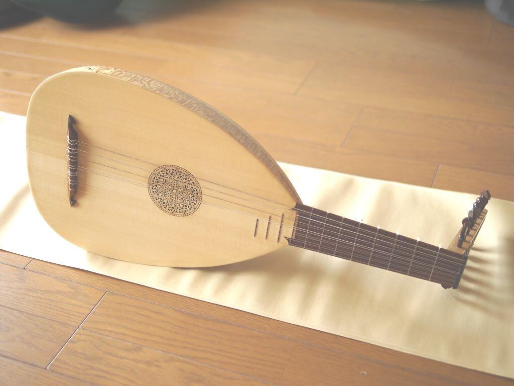 リュート 7コース ◆ スモールタイプ わけあり 廉価 Rensaissance Lute ルネサンス ( ルネッサンス 古楽 古楽器 バロック )
