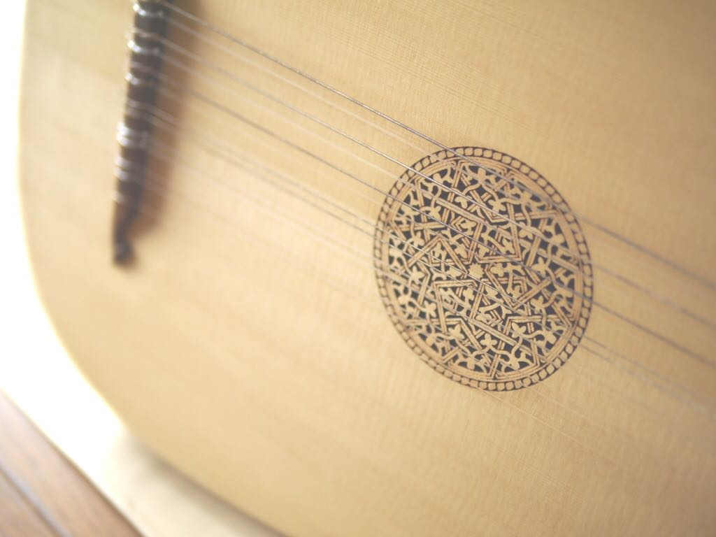 リュート 7コース ◆ スモールタイプ わけあり 廉価 Rensaissance Lute ルネサンス ( ルネッサンス 古楽 古楽器 バロック )_画像2