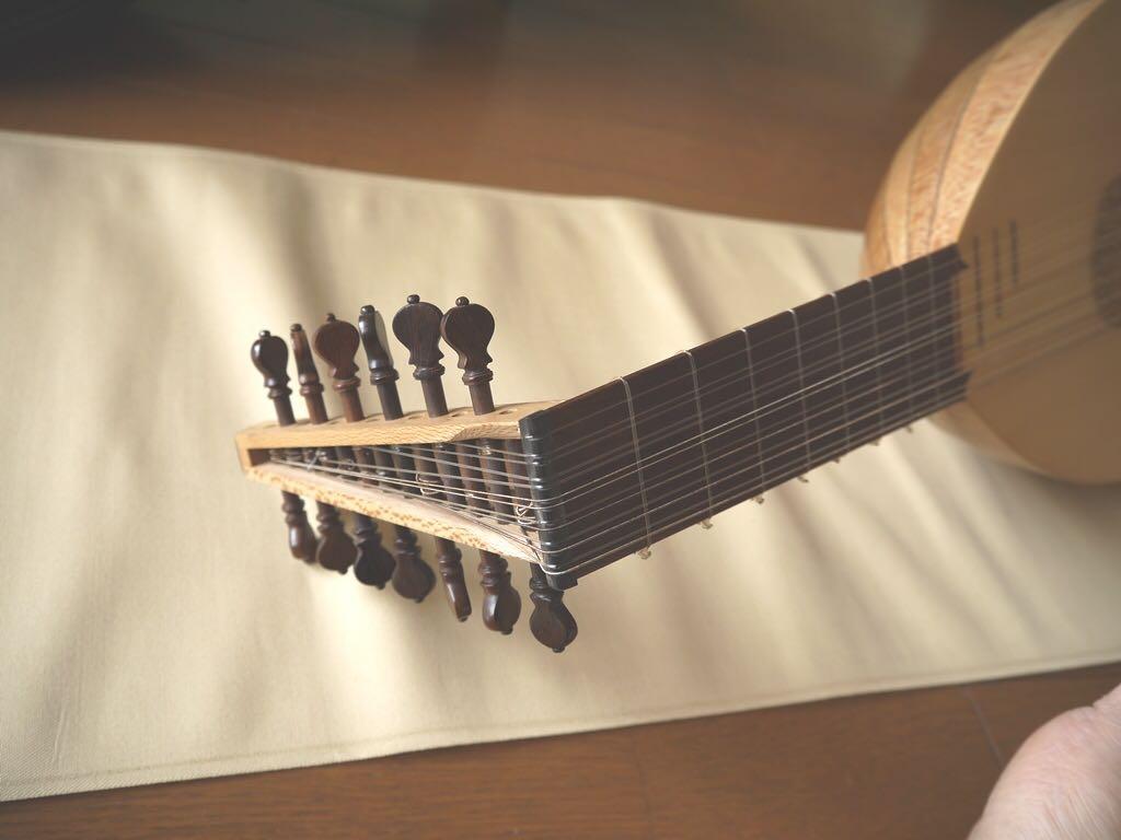 リュート 7コース ◆ スモールタイプ わけあり 廉価 Rensaissance Lute ルネサンス ( ルネッサンス 古楽 古楽器 バロック )_画像7