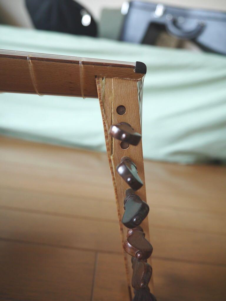 ペグボックスの破損、簡易補修