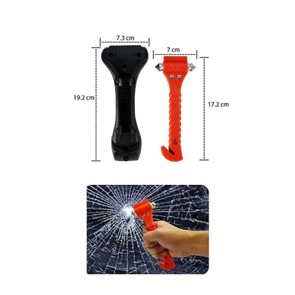 free shipping urgent .. for Hammer seat belt cutter & holder case attaching submerge in car safety Hammer Rescue Hammer in-vehicle orange