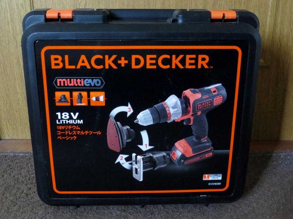 ☆新品☆18Vブラック&デッカー/BLACK+DECKER コードレスマルチツール ベーシック EVO183B1  ブラデカ ブラックアンドデッカー