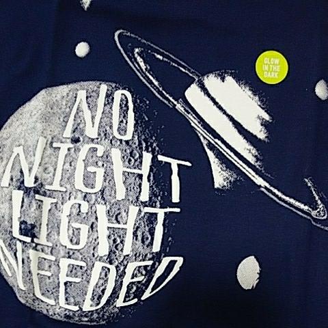 新品 クレイジー8 半袖・長ズボン パジャマ 150 ☆宇宙☆ サイズ12 Night Light Glow crazy8 (ジンボリー姉妹)_画像3